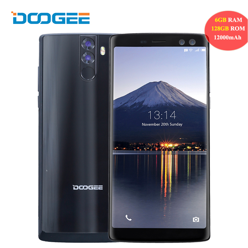 "DOOGEE BL12000 Pro 4G 6.0"" Smartphone 18:9 12000mAh 6GB+128GB Full Screen Android 7.0 Octa Core 16MP 4 Camera Mobile Cellphone"