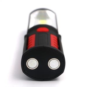Image 4 - Lanterne lampe torche à LED Portable COB Rechargeable par USB, lumière de travail, lampe de Camping, avec batterie intégrée et crochet magnétique