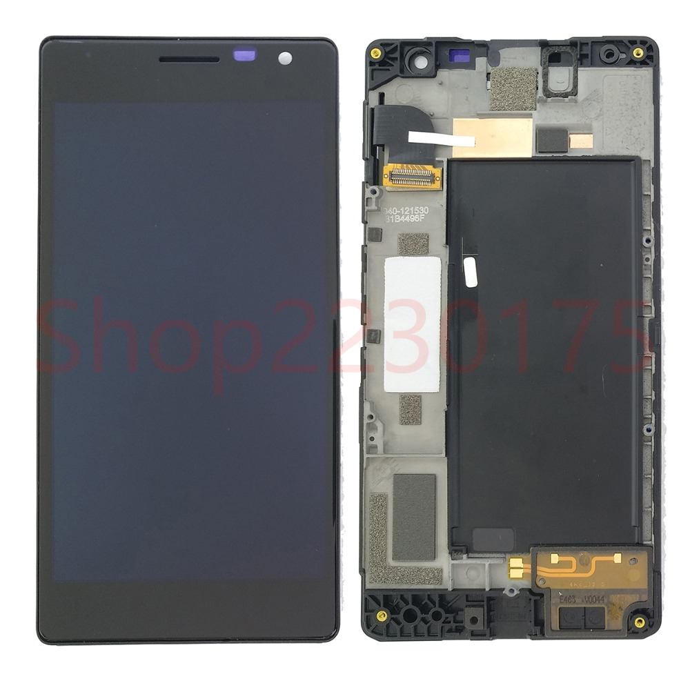 For <font><b>Nokia</b></font> Lumia 730 735 RM-1038 RM-1039 RM-<font><b>1040</b></font> LCD Display Touch Screen Digitizer Assembly Frame Replacement Parts image