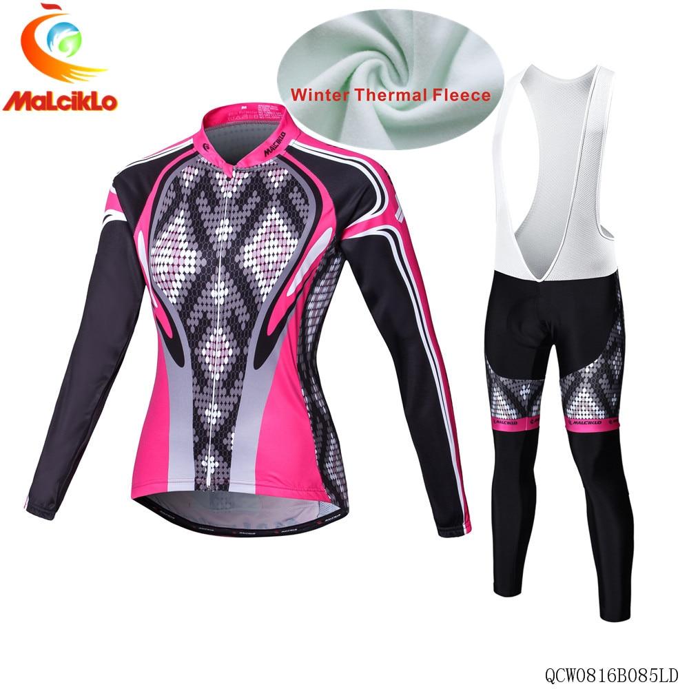 ФОТО Malciklo Cycling Jersey women Long Sleeve Racing Bike cube Cycling Clothing MTB Cycle Clothes Wear Ropa Ciclismo Sports set