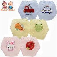2pcs/lot-4 Layers Baby Training Pants/Baby Waterproof Cotton Training Pants/Animal Style Training Pants