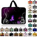 7 10 12 13 13.3 14 15 17 17.3 pulgadas de Color Púrpura mariposa bolsa de ordenador portátil de netbook cubierta de la caja de la manga con mango ordenador portátil bolsa