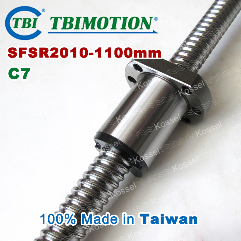 TBI ballscrew 2010 C7 1100mm with SFS ball nut SFS2010 + end machined for high stability CNC kit set anti backlash ballscrew tbi ball screw 2005 c7 1000mm with 5mm lead without flange ballnut bsh2005 for cnc kit backlash
