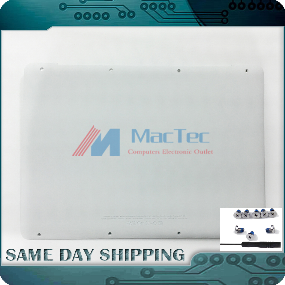 Genuine BRAND New A1342 White Lower Bottom Case Cover for Apple MacBook A1342 13 Unibody 604-1033 2009 2010 MC207 MC516 LL/A