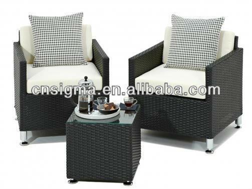 2017 New Black Rattan All Weather Outdoor Garden 3 Piece Bistro Chair Set In  Garden Sets From Furniture On Aliexpress.com | Alibaba Group