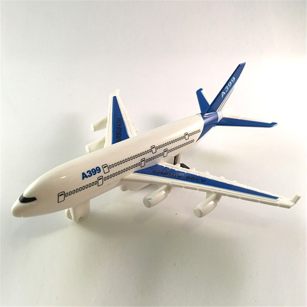 Air Bus Model Kids Children Fashing Airliner Passenger Plane Toy Passenger Model Hot Sale