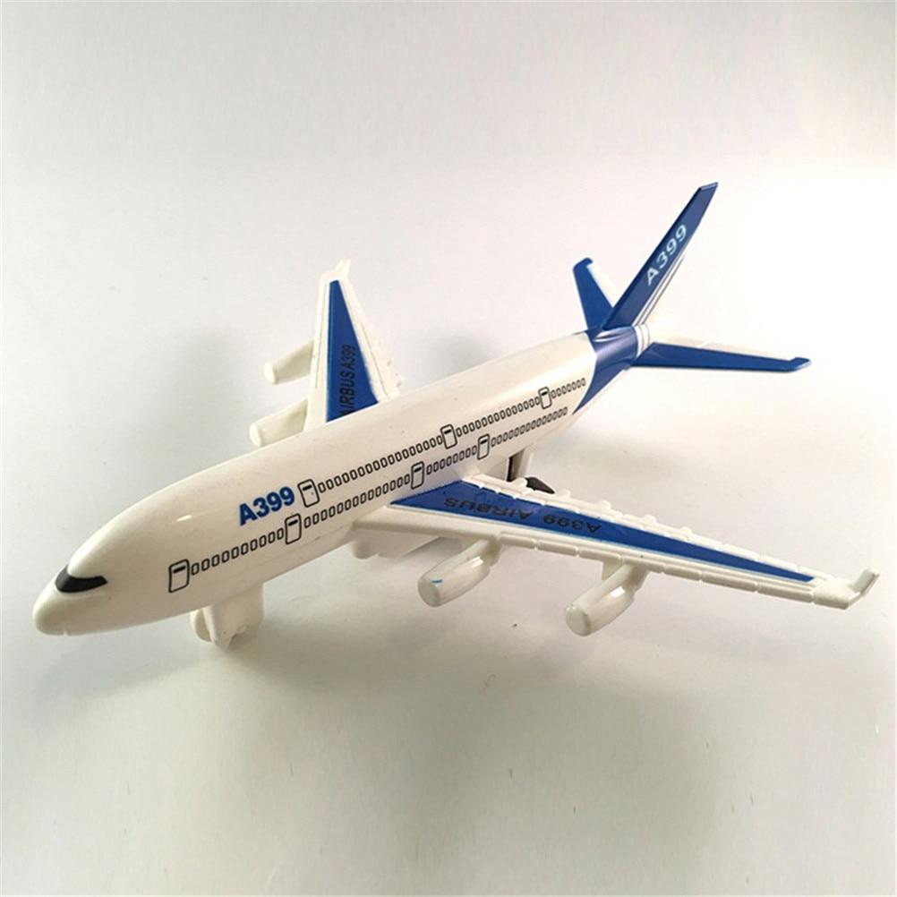 Air Bus Model Kids Children Fashing Airliner Passenger Plane Toy Passenger Model Hot Sale