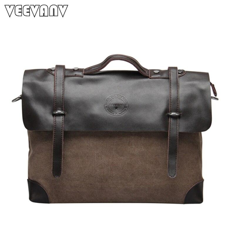 New Wholesale Male Single-shoulder Bags Men Messenger Bags Canvas Leather Men's Travel Crossbody Shoulder Bag Business Briefcase philips 40pft4100