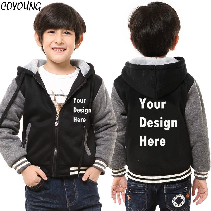 COYOUNG Brand Custom Print Logo Design Kids Boys Girls Hoodies Sweatshirts DIY Prosonalized Customize Winter Hoody Drop Shipping