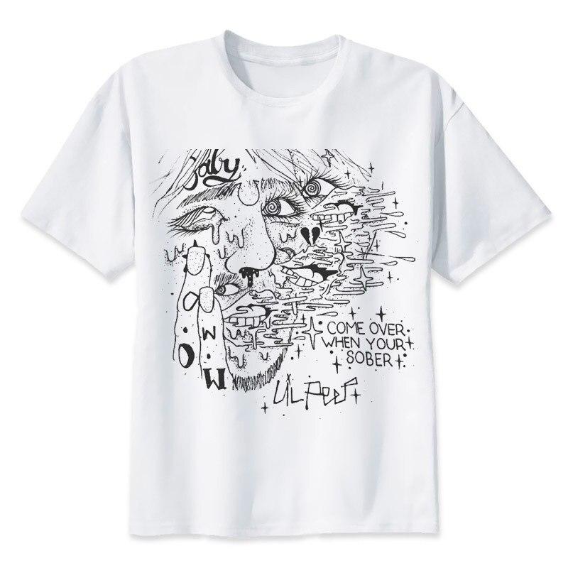 Lil peep T Shirt rapper Tshirt Moda Equipaggio T fresco Miglior hip hop  Regalo per gli amici Confortevole Camicia hiphop Tee 03f8566bd3b4