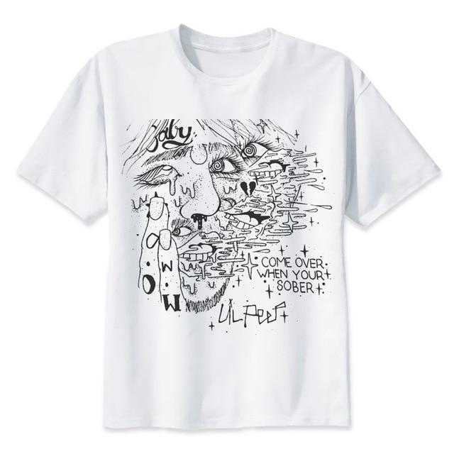 42ac2b8b6352 lil peep T Shirts rapper Tshirt Crew Fashion cool Tees Best hip hop ...