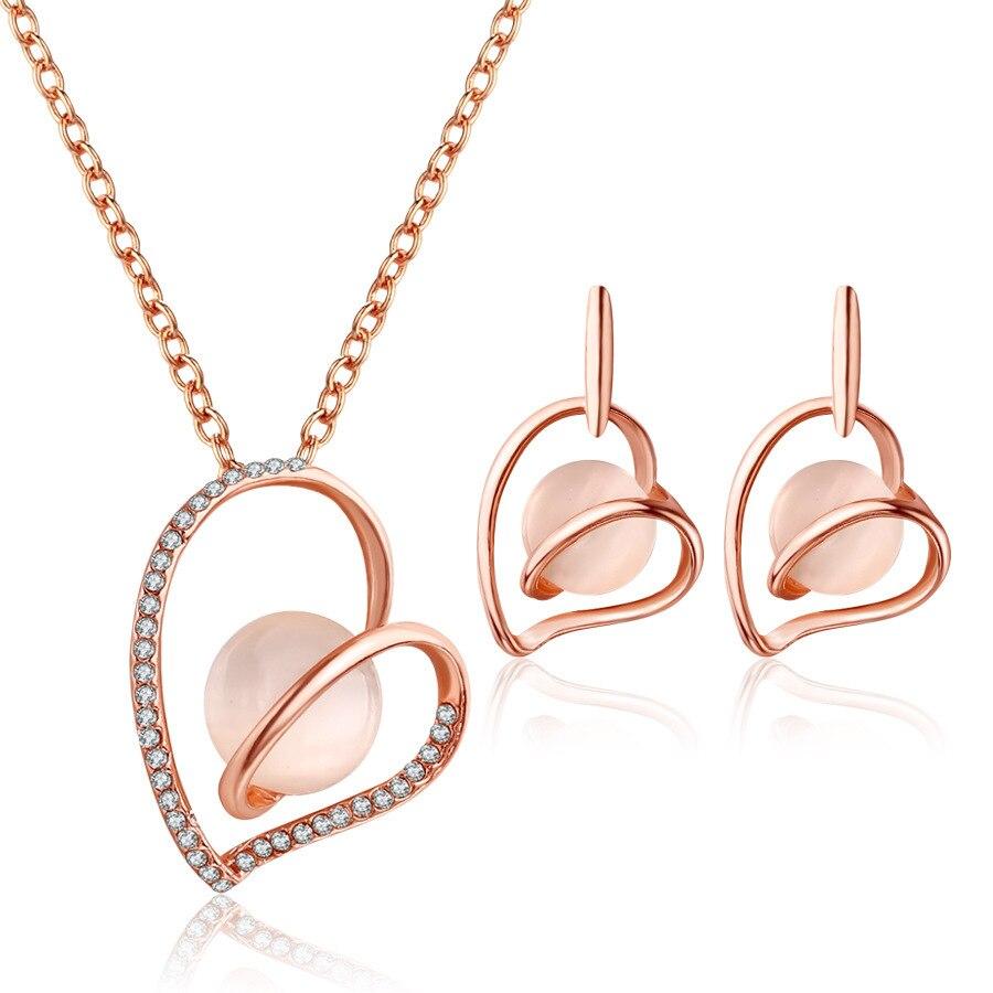 Fashion Design Heart Shape Oval Jewelry Sets For Women
