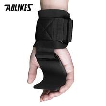 AOLIKES 1 пара фитнес тяжелая атлетика крюк тренировочные Захваты в тренажерном зале ремни поддержка запястья вес s мощность гантели, крюк Тяжелая атлетика