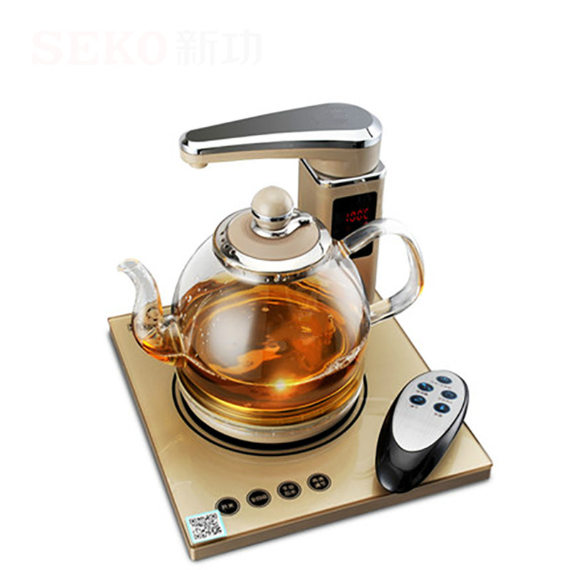electric kettle of tea with the remote control automatic water boiler glass automatic water filled electric kettle set of the tea with stove