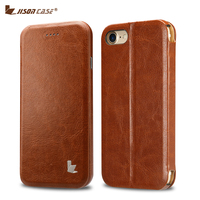 Jisoncase Flip Phone Cases For IPhone 7 Wallet Stand Style Case Luxury Artificial Leather Cover For