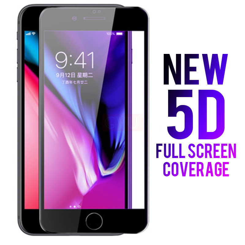 Image 5 - GVU 5D Full Cover Screen Protector For iPhone 6 6s 7 Tempered Glass For iPhone 8 7 6 6S X Glass Film-in Phone Screen Protectors from Cellphones & Telecommunications