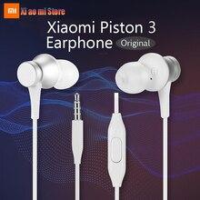 100% Original Brand Xiaomi Earphone Mi Piston 3 Fresh Version In-Ear With Mic Wire Control Headset Xiaomi Earphones original xiaomi piston colorful version in ear earphone headset microphone headphone for iphone xiaomi