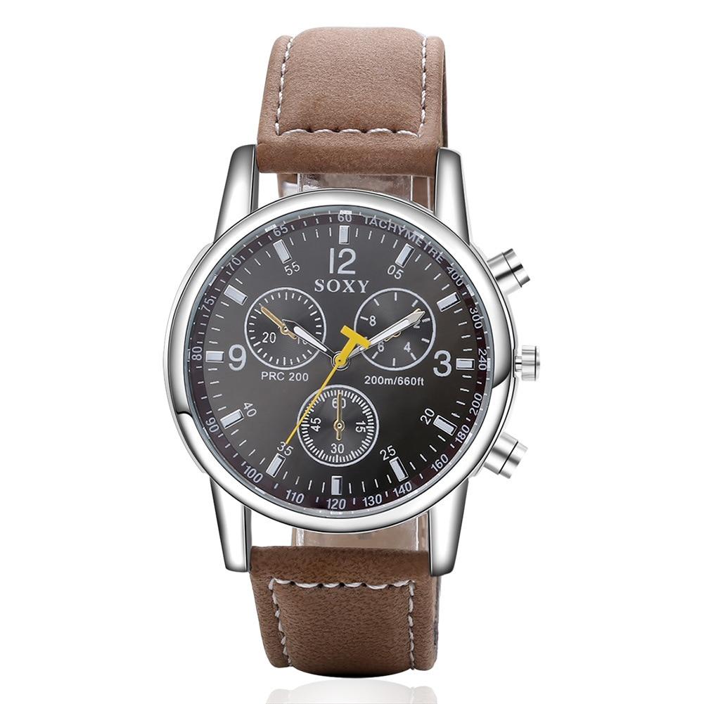 mænds forretningsklokke mænds armbåndsur mand kvarts ur sport - Mænds ure - Foto 2