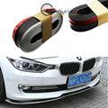 (1) Black w/ White PU Front Bumper Lip Splitter Chin Spoiler Body Kit Trim (8ft)