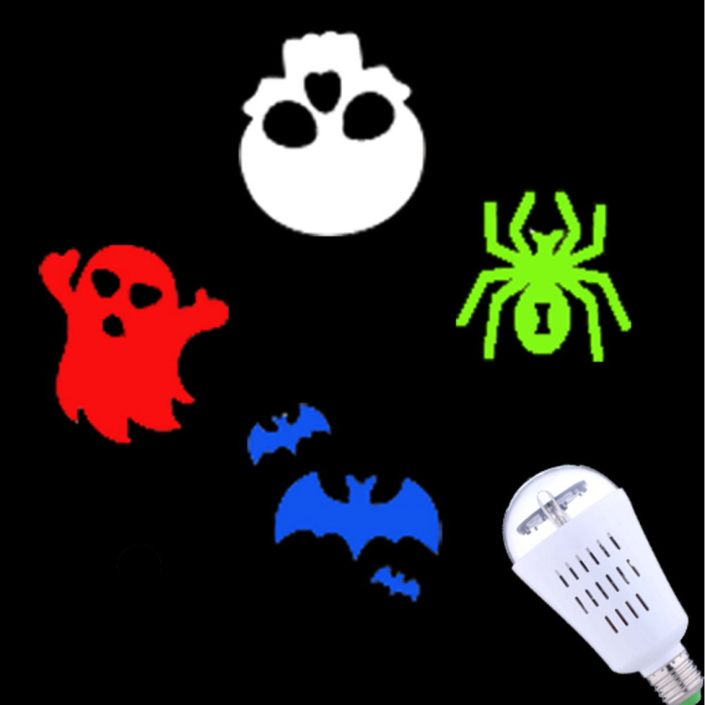 2018 Ny ankomst Innendørs Halloween Led Light-projektor, Soul-rørende Halloween-projektorer, Mini Colorful Halloween-lys