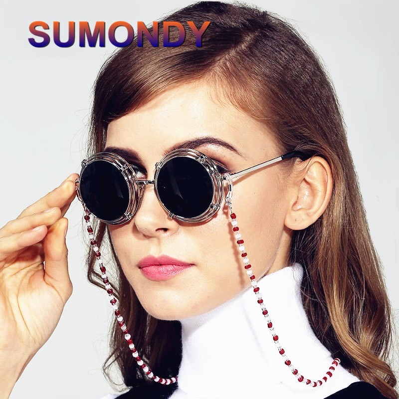 US $2.89 40% OFF|Fashion Designer Women Fanciest Sunglasses Lanyards Reading Glasses Cord Holder Neck Strap Rope Glass Beads Eyeglass Chains