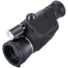 Buy Professional Monocular Zoom Vision 8x40 Focusing Telescope High-power HD Night Vision Monocle Hunting Spyglass with Flashlight directly from merchant!