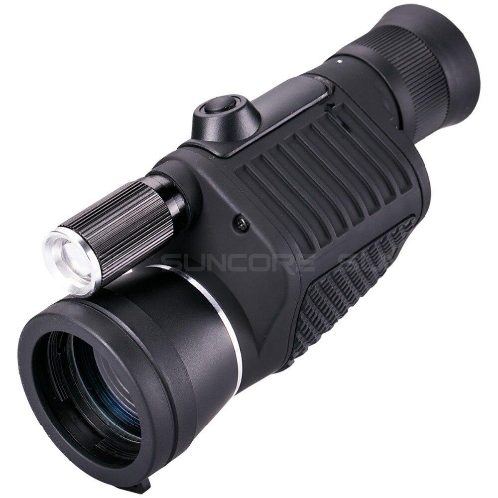 Télescope professionnel monoculaire Zoom Vision 8x40 focalisation haute puissance HD Vision nocturne Monocle chasse Spyglass avec lampe de poche