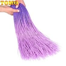 TOMO 24 дюйма длинные вязанные крючком косички Сенегальские твист Омбре два тона плетение волос синтетические канекалон наращивание волос для косичек