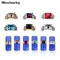 10 pcs Sqaure Gems 3d Decorações Da Arte Do Prego Glitter Pedrinhas Cristal Liga de Prata de Ouro Charme Jóias DIY Ferramentas de Beleza Do Prego