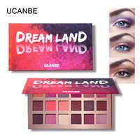 Ucanbe Brand Profession Eyes Makeup 18 Color Matte Eyeshadow Palette Shimmer Eye Shadow Powder Silky Texture Dream Land Glitter