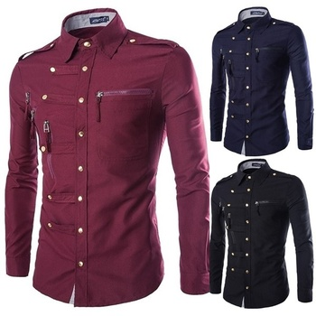 geek new men's shirt long sleeve fashion slim