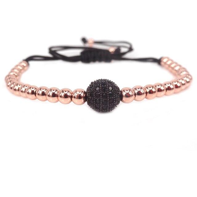 Men Bracelets Rose Gold...