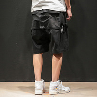 Summer Cargo Loose Shorts Men Zipper Pocket Street Lay Low Mens Shorts Tech Wear Short Masculina Academia Hip Hop Shorts 5XL