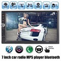 Новый 2 DIN 7 дюймовый экран Поддержка Камеры Заднего Вида Автомобиля Стерео MP4 Плеер 12 В Автомобиль MP5 Аудио Bluetooth/hands free/USB/MMC/Пульт Дистанционного Управления