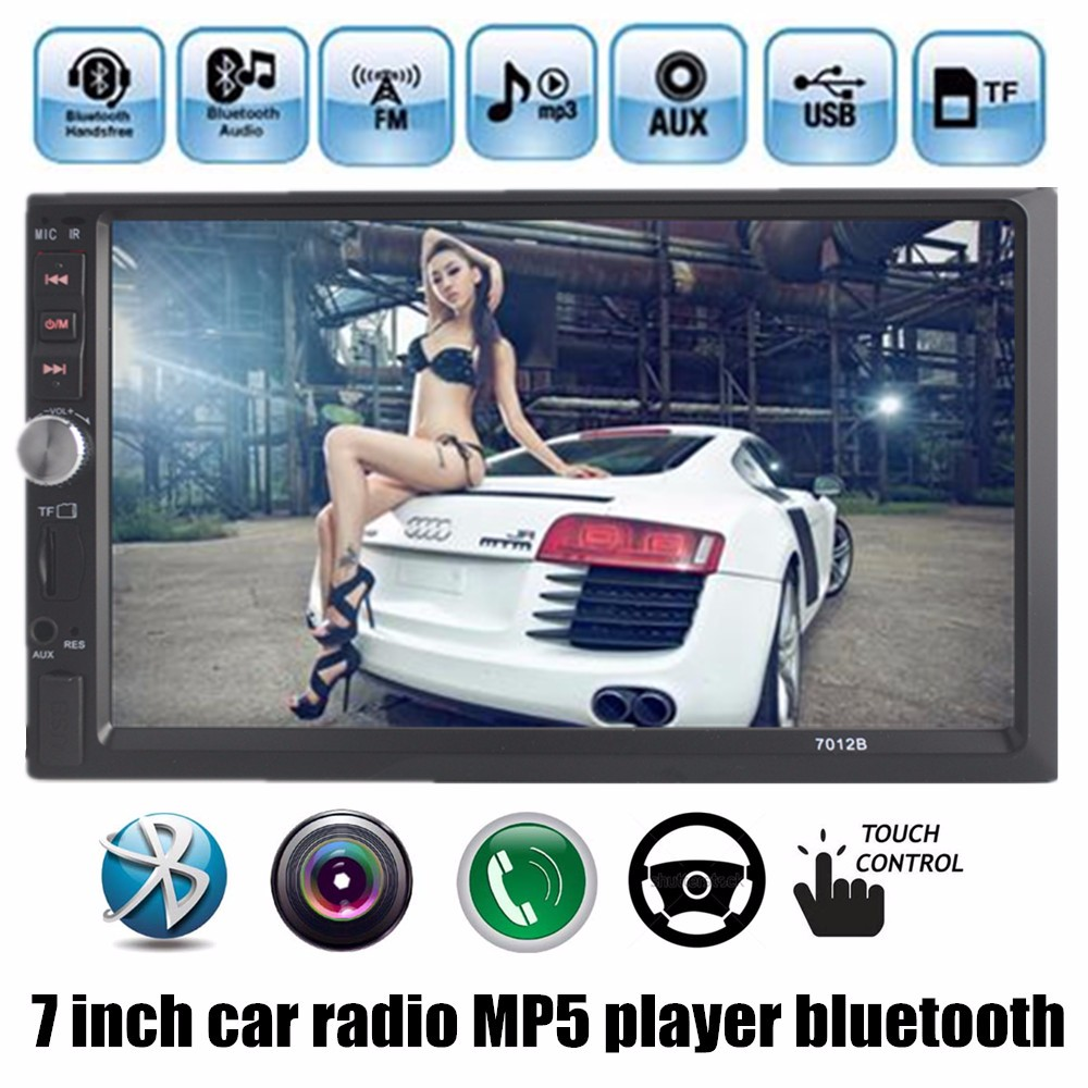 New 2 DIN 7inch screen Support Rear Camera Car Stereo MP4 Player 12V Car MP5  Audio Bluetooth/hands free/USB/MMC/Remote Control 2015 new support rear camera car stereo mp3 mp4 player 12v car audio video mp5 bluetooth hands free usb tft mmc remote control