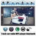 Nueva 2 DIN 7 pulgadas de pantalla de la Cámara Trasera de Soporte Estéreo Del Coche Mp4 12 V MP5 Car Audio Bluetooth/manos libres/USB/MMC/Control Remoto