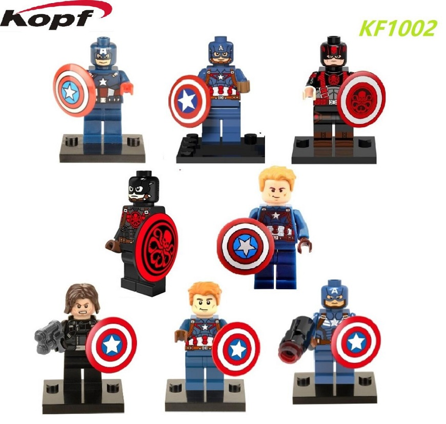 KF1002 Building Blocks Super Heroes Assemble thanos Captain America Hawkeye Black Widow  Avengers Action Bricks Toys singlesale captain america 3 with car civil war marvel super heroes the avengers minifig assemble building blocks kids toys