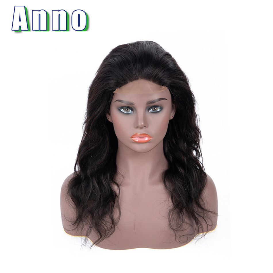 Anno Hair Body Wave Lace Front Human Hair Wigs 10 22 Long Peruvian Hair Wigs 4x4