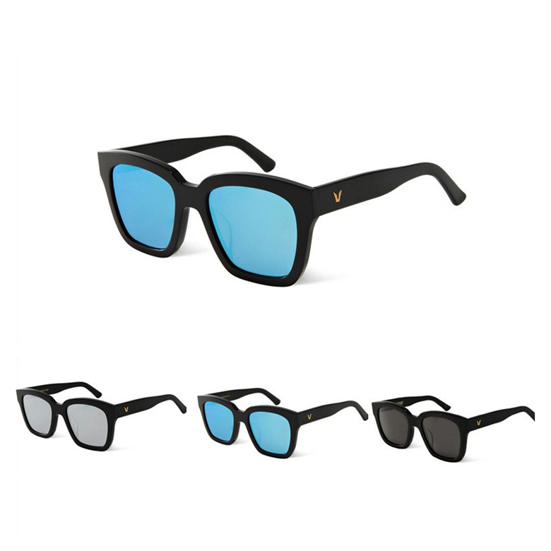 Vintage Polarized driving Sunglasses women men Brand Designer V Logo Korea Bigbang Dreamer Hoff Square frame