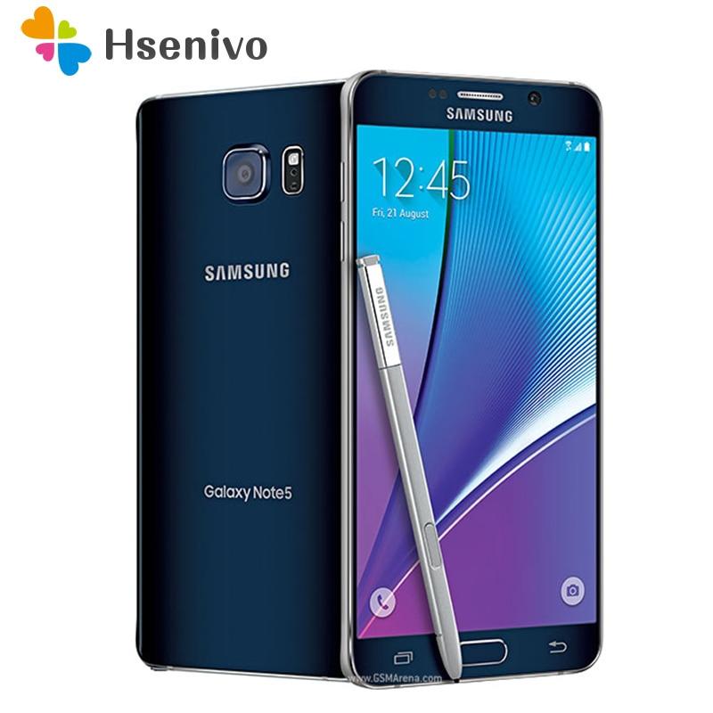 Original Samsung Galaxy Nota 5 N920A/T Octa Core 5,7 pulgadas 4GB RAM 32GB ROM 16.0MP LTE 4G Android Smartphone desbloqueado teléfono móvil