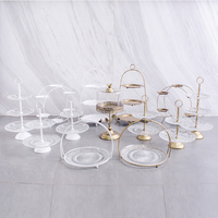 glass 3 tier cupcake Fruit stand dessert table