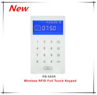 Nice Design 433Mhz 868Mhz Wireless Keypad Touch Screen RFID Keypad Arm Disarm Alarm System With Lithium