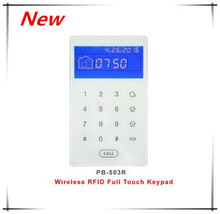 Nice Design 433Mhz/868Mhz Wireless keypad Touch Screen RFID keypad Arm/disarm Alarm System with Lithium battery built in