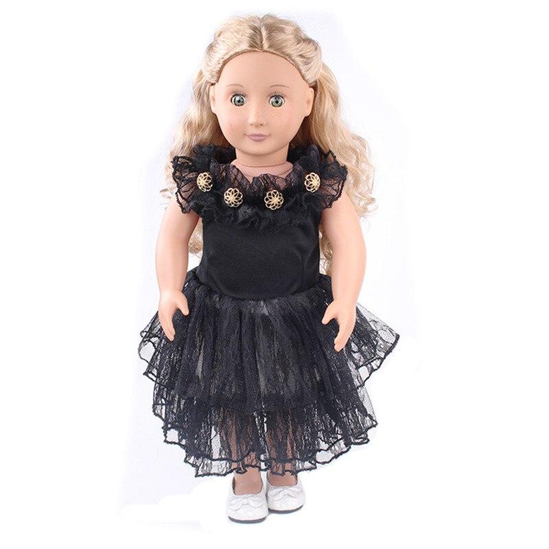 Baby Born Прохладный модное кружевное платье с принтом красивое платье подходит наряд для 18 дюймов American Girl Doll ...