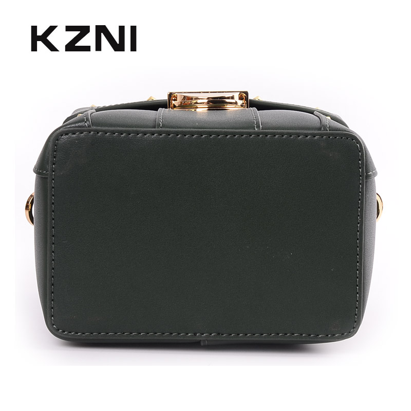 b2d7438dc5 KZNI Ladies Purse High Quality Fashion Handbags 2018 Women Leather Shoulder  Bag Real Leather Tote Bag Bolsa Feminina Sac 9067-in Top-Handle Bags from  ...