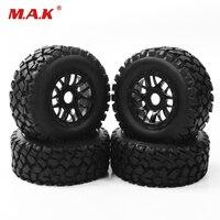 4PCS/set RC accessory 1:10 short course truck tyre tire wheel rim TRAXXAS SLASH PP0339+PP1003K 17mm hex car model parts