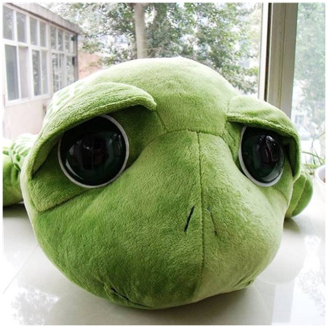 2018 New arriving 20cm Army Green Big Eyes Turtle Plush Toy Turtle Doll Turtle Kids As Birthday Christmas Gift Free shipping 4