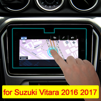 9inch Car Navigation Tempered Glass Screen Protector Steel Portective Film For Suzuki Vitara 2016 2017 Car styling Accessories image
