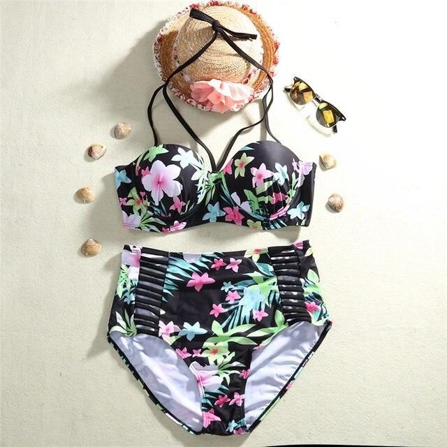 2017 Nuevo Atractivo de Una Pieza recortable Traje de Baño Mujer Traje de Baño Traje Vintage Beach Wear Imprimir Vendaje Monokini