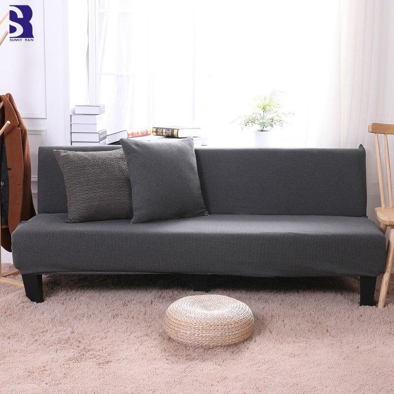 Armless Sofa Cover Elastic Bed